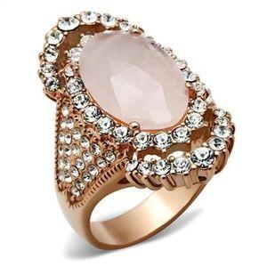 Brass Ring IP Rose Gold(Ion Plating)